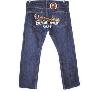 A Bathing Ape Bape Baby Milo Denim Jeans Women XS
